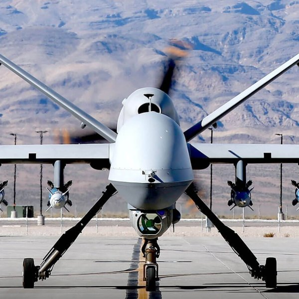A U.S.. Military Drone MQ 9 is seen in an undated photo (Credit: Getty Images via CNN)