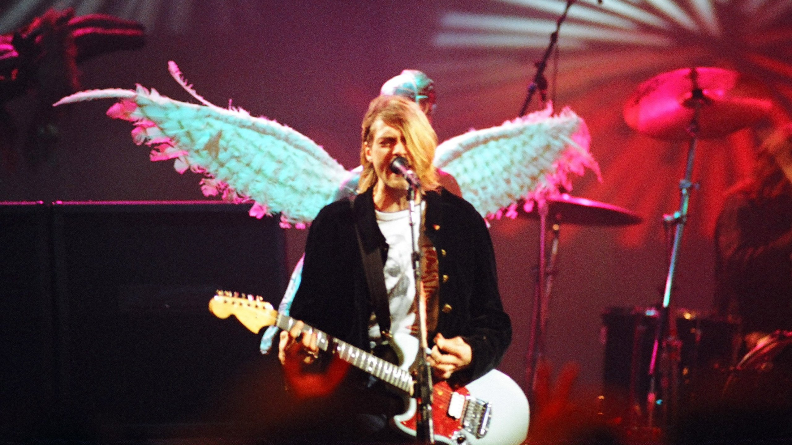 """A quarter century after his death, Cobain's career continues to fascinate and inspire. Rolling Stone named he and Nirvana 30th on its list of the """"100 Greatest Artists of All Time."""" (Credit: Jeff Kravitz/FilmMagic Inc/Getty Images)"""