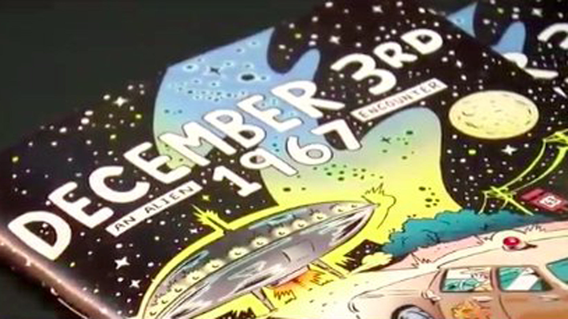 Michael Jasorka's comic book was inspired by a story of an alien encounter in Nebraska in the 1960s. (Credit: CNN)