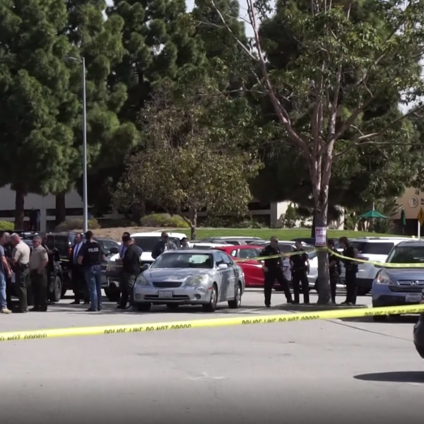 The scene of an officer-involved shooting in Ventura on April 1, 2019. (Credit: RMG News)