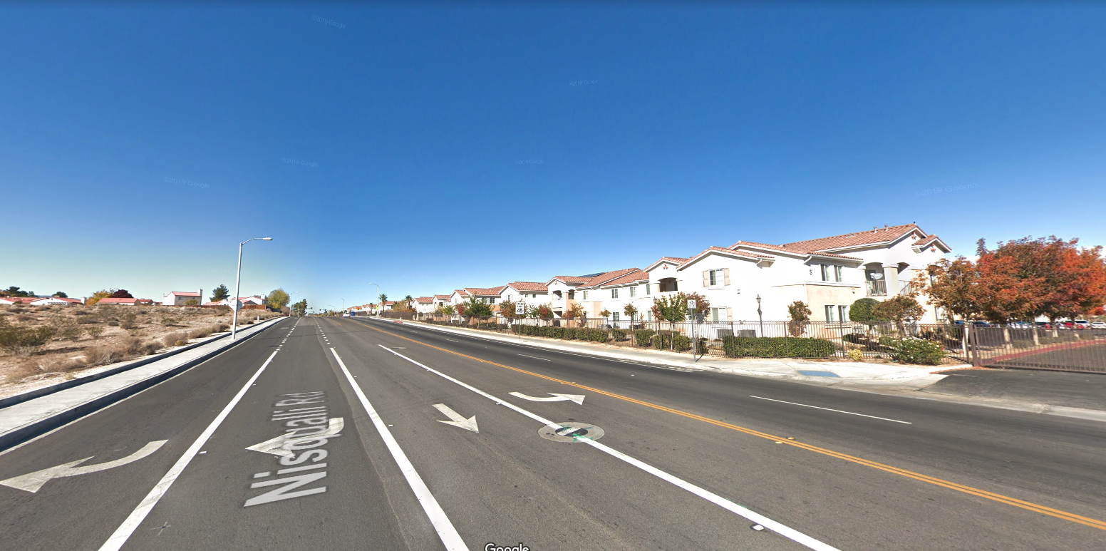 The Casa Bella Apartment complex in Victorville is seen from Nisqualli Road in a Google Maps Street View image on April 4, 2019.