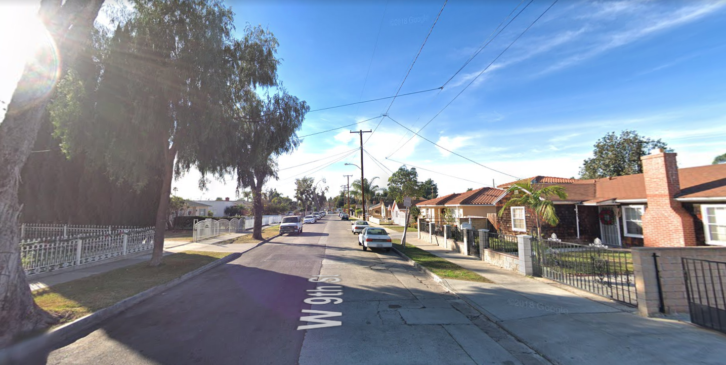 The 1700 block of West 9th Street in Santa Ana is seen in a Google Maps Street View image on April 11, 2019.