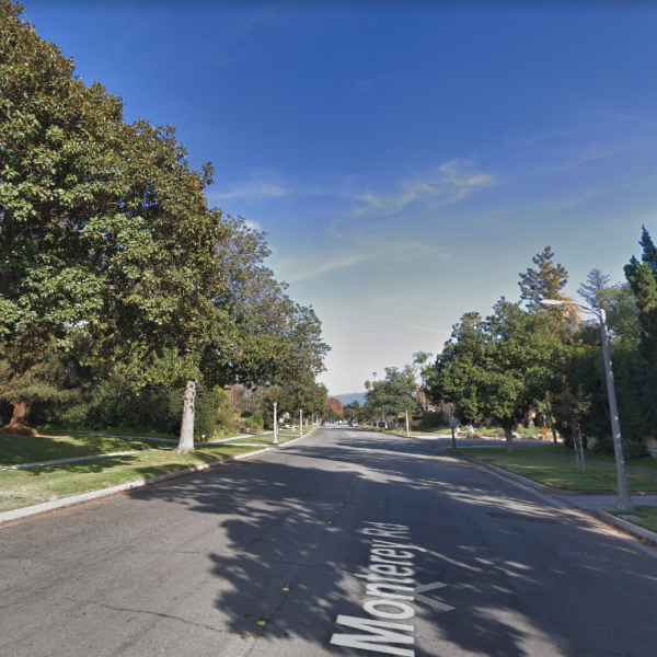 The 3400 block of Monterey Road in San Marino is seen in a Google Maps Street View image on April 29, 2019.