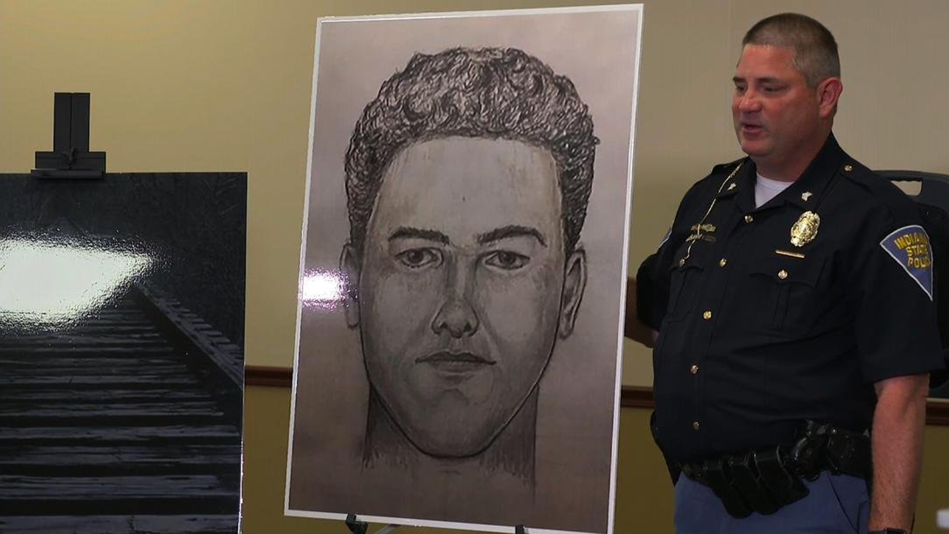 Indiana State Police released a new sketch as the search continued for the man who killed Libby German and Abby Williams in 2017. (Credit: CNN)