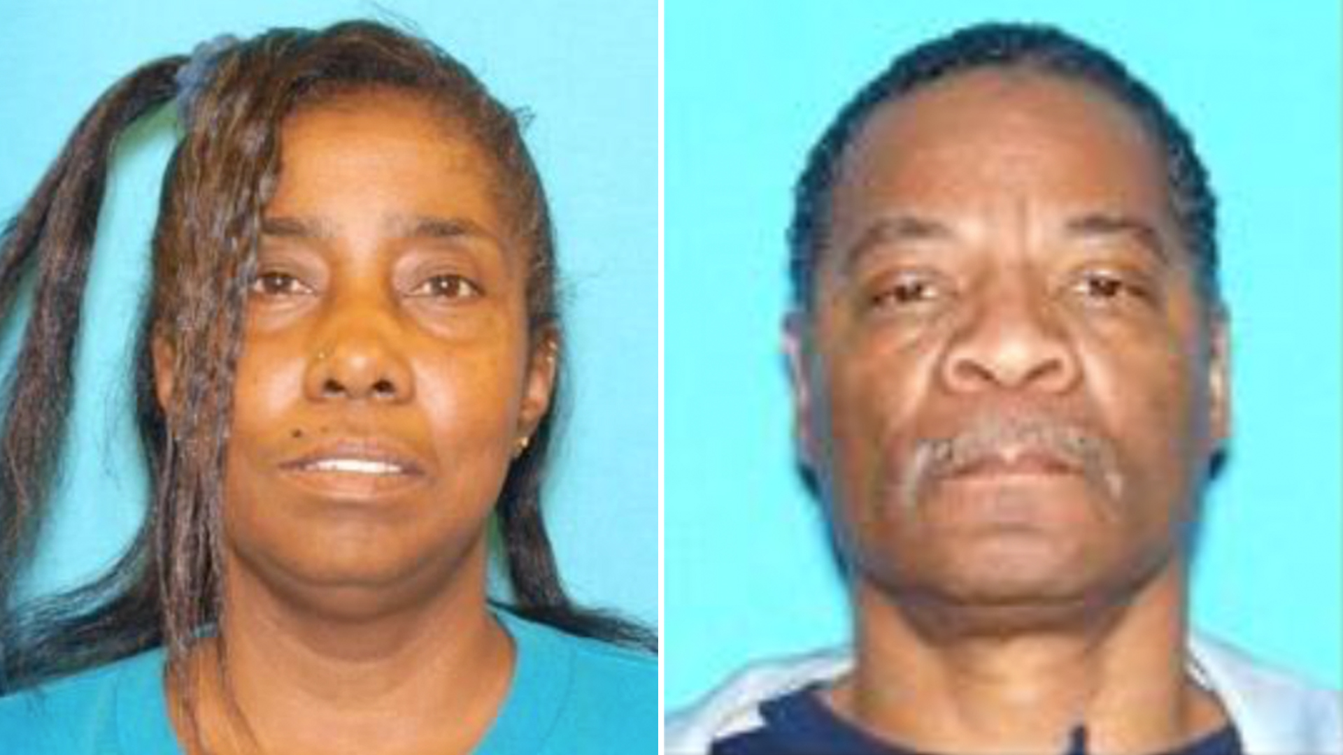 Shirley Smith, 59, left, and Claude Smith, 61, right, appear in undated photos provided by the San Bernardino Police Department on April 5, 2019.