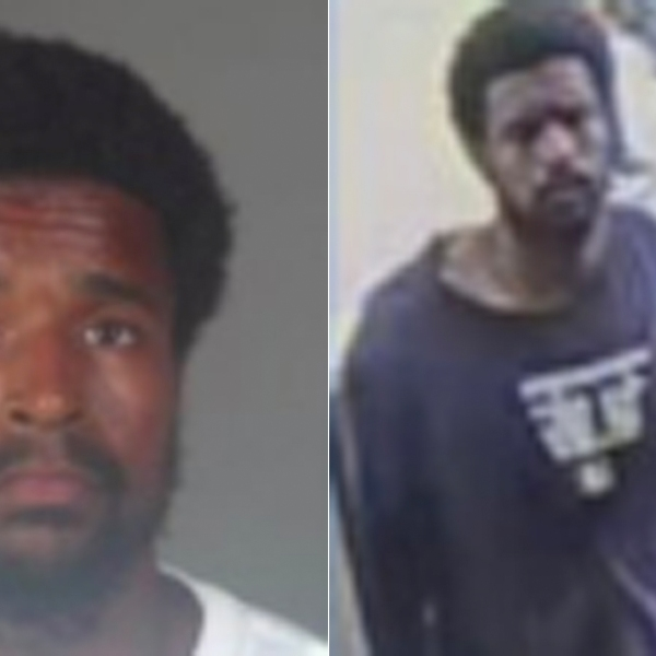 Torrance police released a booking photo of Dalan Johnson, left, and a surveillance image from the investigation.