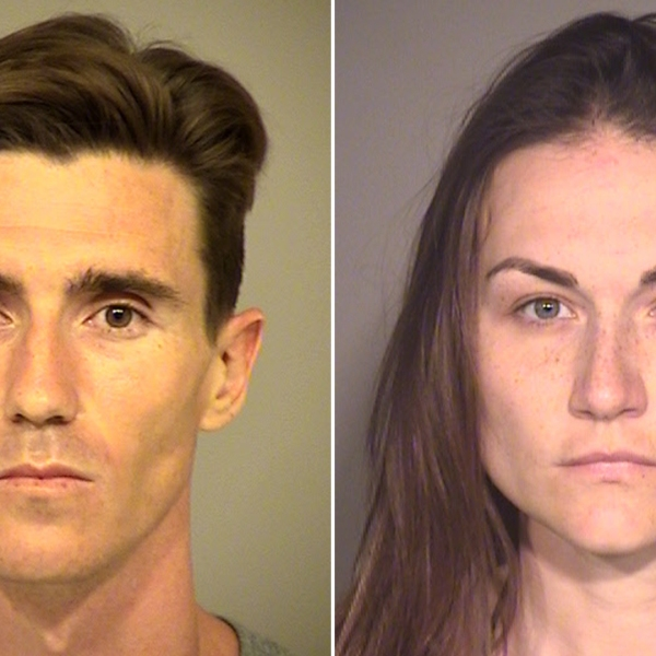 Jesse Ramos, 29, and Erin Powell, 31, appear in undated photos provided by the Ventura County Sheriff's Office on April 8, 2019.
