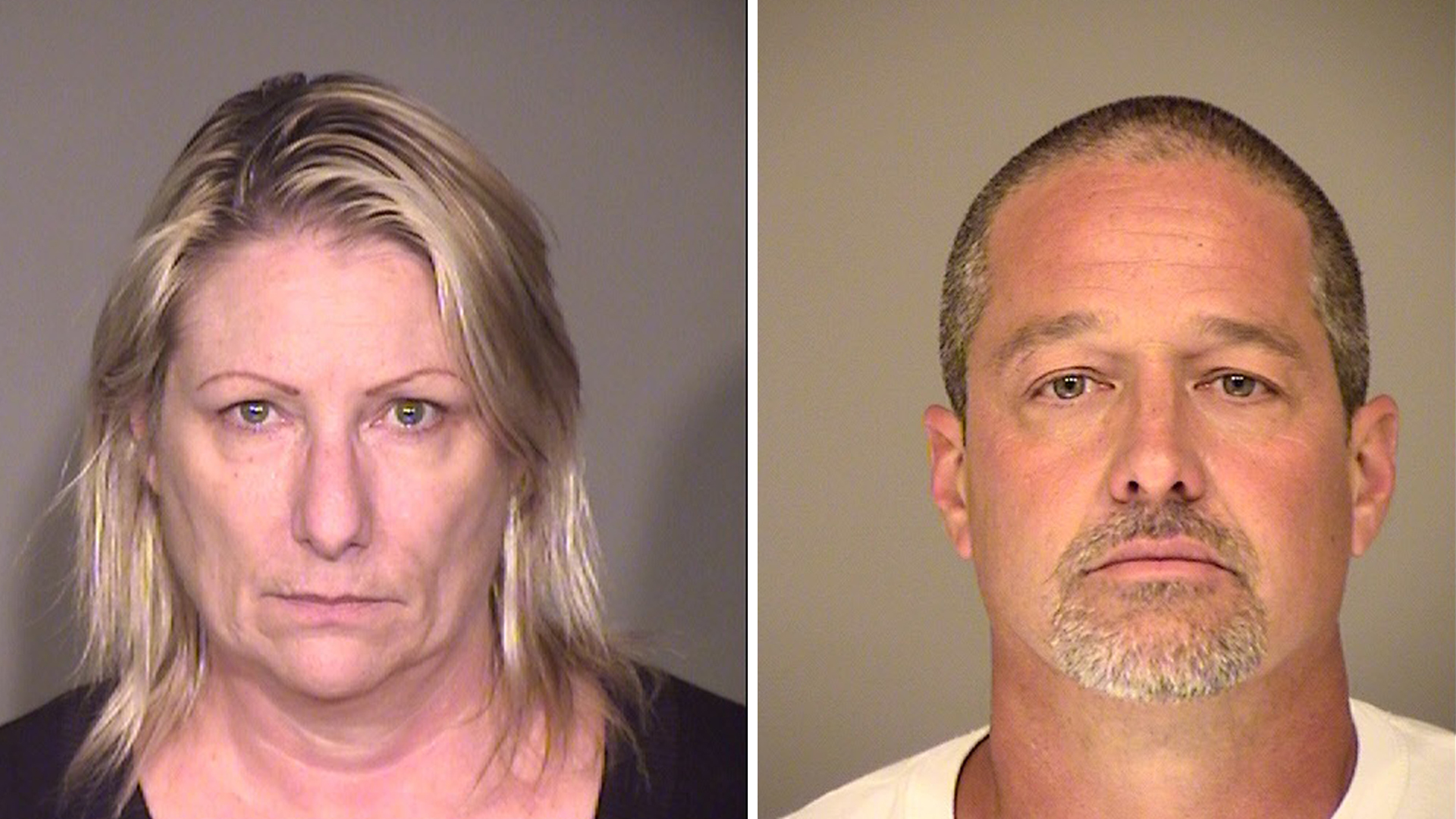 Idee Scholz (left) and Glenn Sires (right) appear in undated photos provided by the Simi Valley Police Department on Nov. 3, 2016.