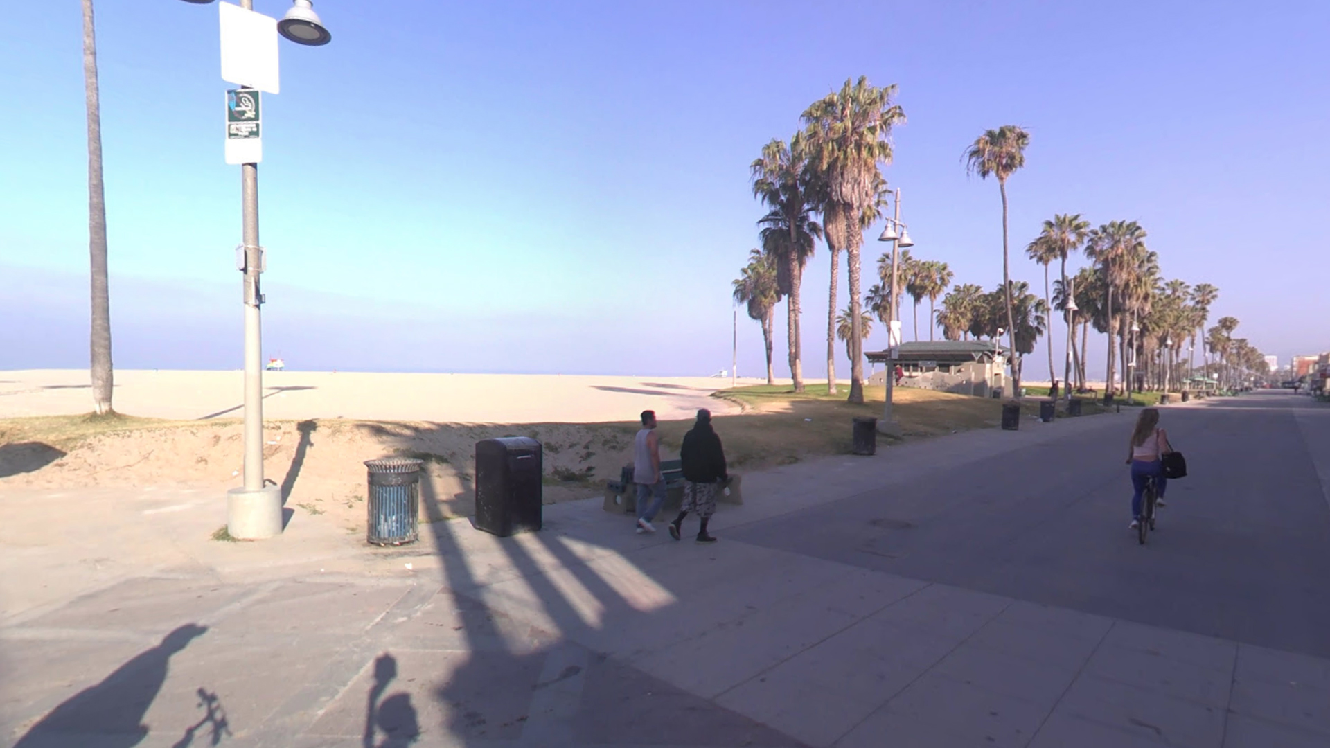 Venice Beach, as seen in a Google Street View image in June of 2008.
