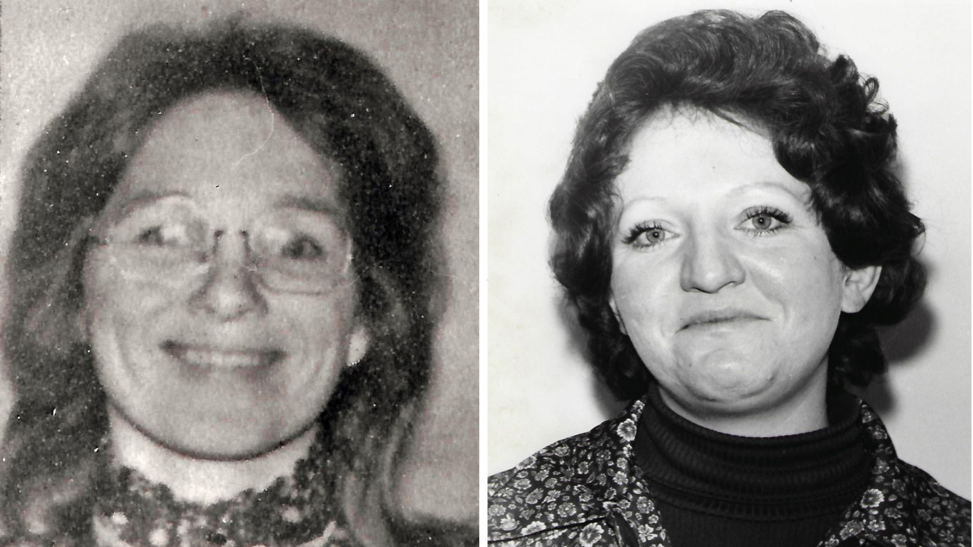 Jane Morton Antunez (left) and Patricia Dwyer (right) are seen in undated photos provided by the San Luis Obispo County Sheriff's Office on April 17, 2019.