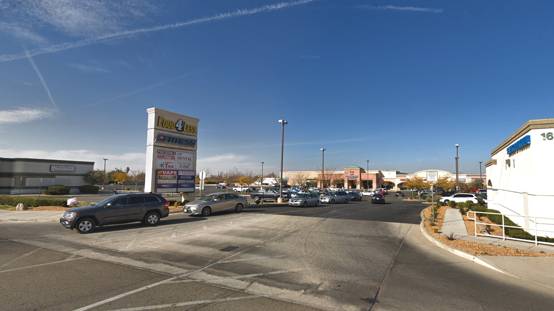 A shopping center in the 16200 block of Bear Valley Road in Victorville, as pictured in an Google Street View image in November of 2018.