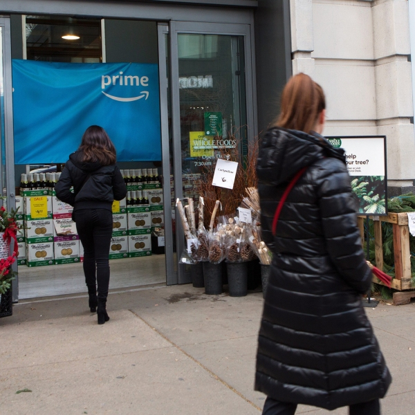 A Whole Foods market is seen in this file photo. (Credit: Federica Valabrega/Bloomberg/Getty Images)