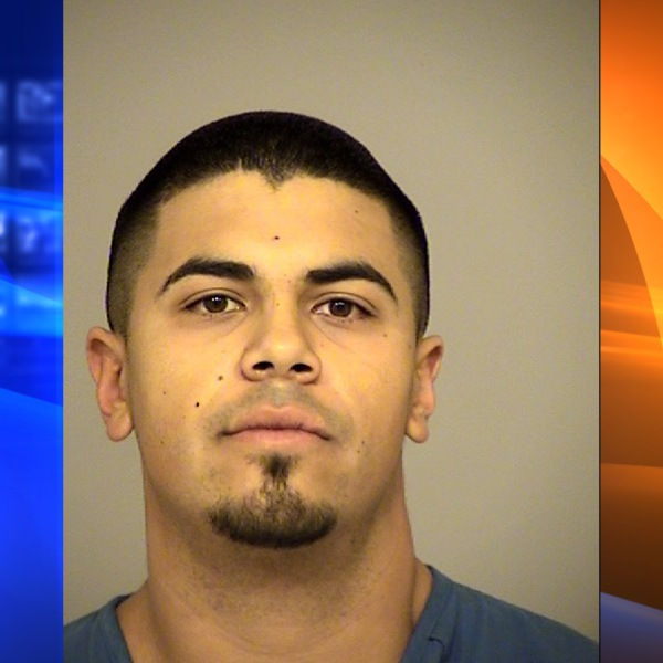Cameron Scott Lykins, 23, is seen in this booking photo from the Ventura County Sheriff's Department.