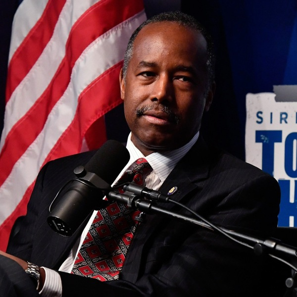 Ben Carson appears on SiriusXM's Town Hall hosted by Armstrong Williams at SiriusXM DC Performance Space on May 23, 2017 in Washington, DC.(Credit: Larry French/Getty Images)