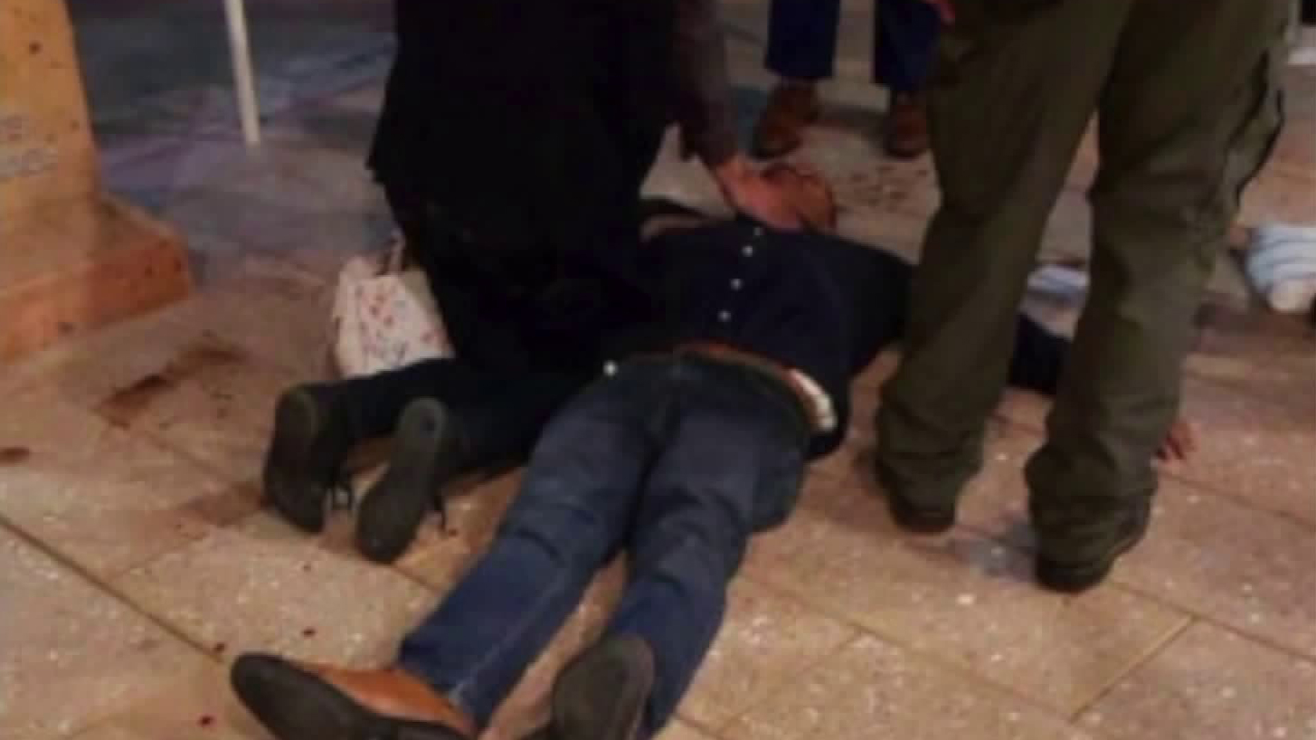 Commerce City Councilman Leonard Mendoza is seen knocked to the ground after a brawl at the California Contract Cities Association's Annual Municipal Seminar on May 18, 2019, at the Renaissance Indian Wells Resort & Spa in video obtained by KTLA.