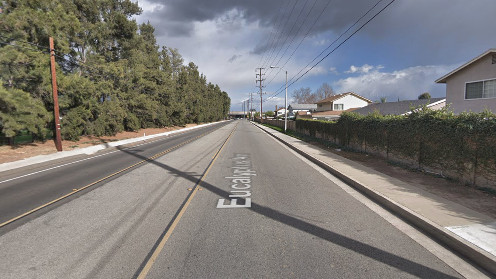 The 3800 block of Eucalyptus Avenue in Chino Hills, as pictured in a Google Street View image in February of 2018.
