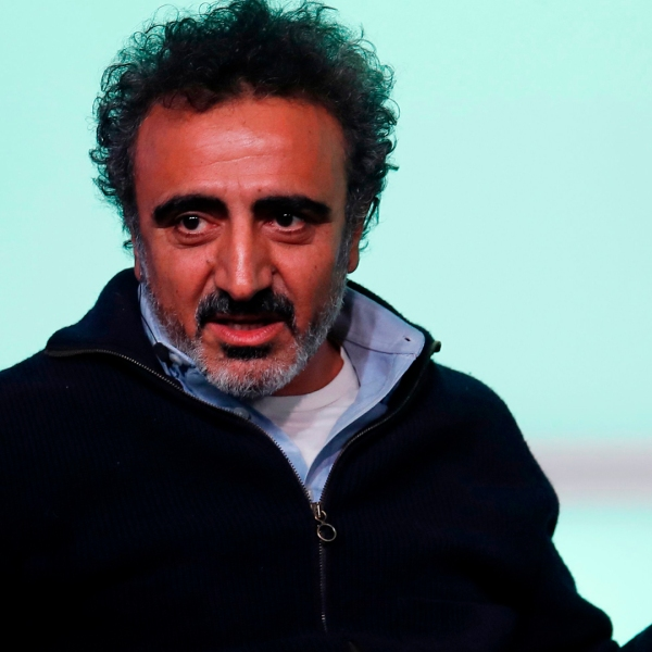 Hamdi Ulukaya, founder of Chobani, speaks at the Obama Foundation Summit in Chicago on November 1, 2017. (Credit: JIM YOUNG/AFP/Getty Images)