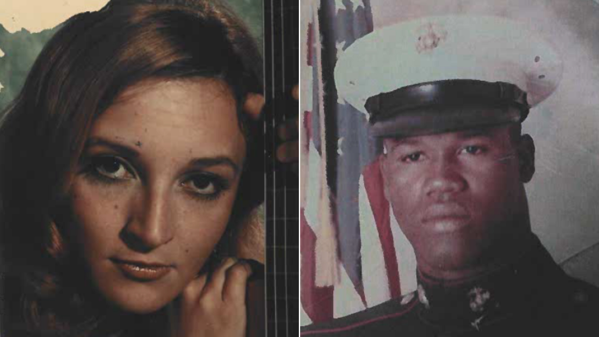 Leslie Penrod Harris, left, and Eddie Lee Anderson are seen in photos from 1976 released by the Orange County Sheriff's Department.