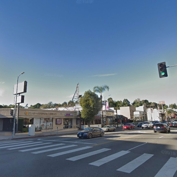 The area where a pursuit crash occurred in Encino on May 1, 2019, is seen in this undated image from Google Maps.