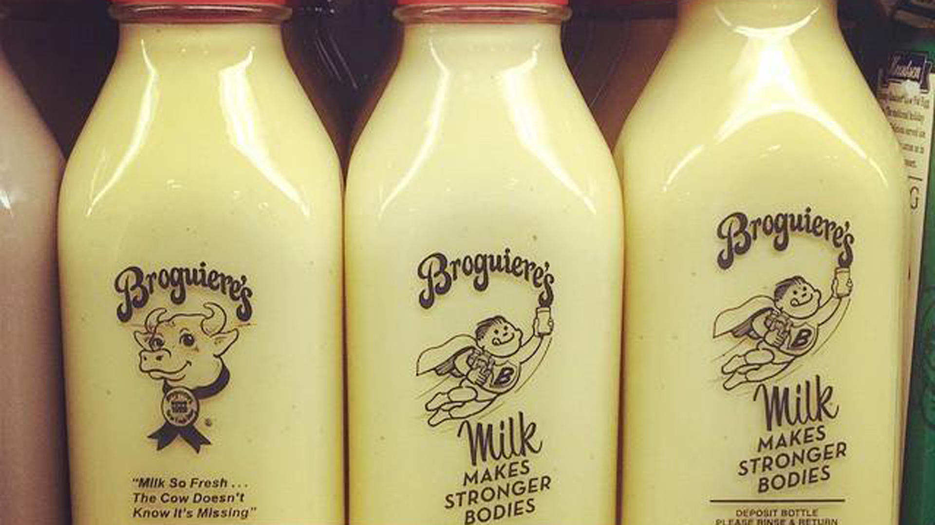 Milk from Broguiere's Dairy is seen in an image tweeted by Gelson's Markets in 2014.