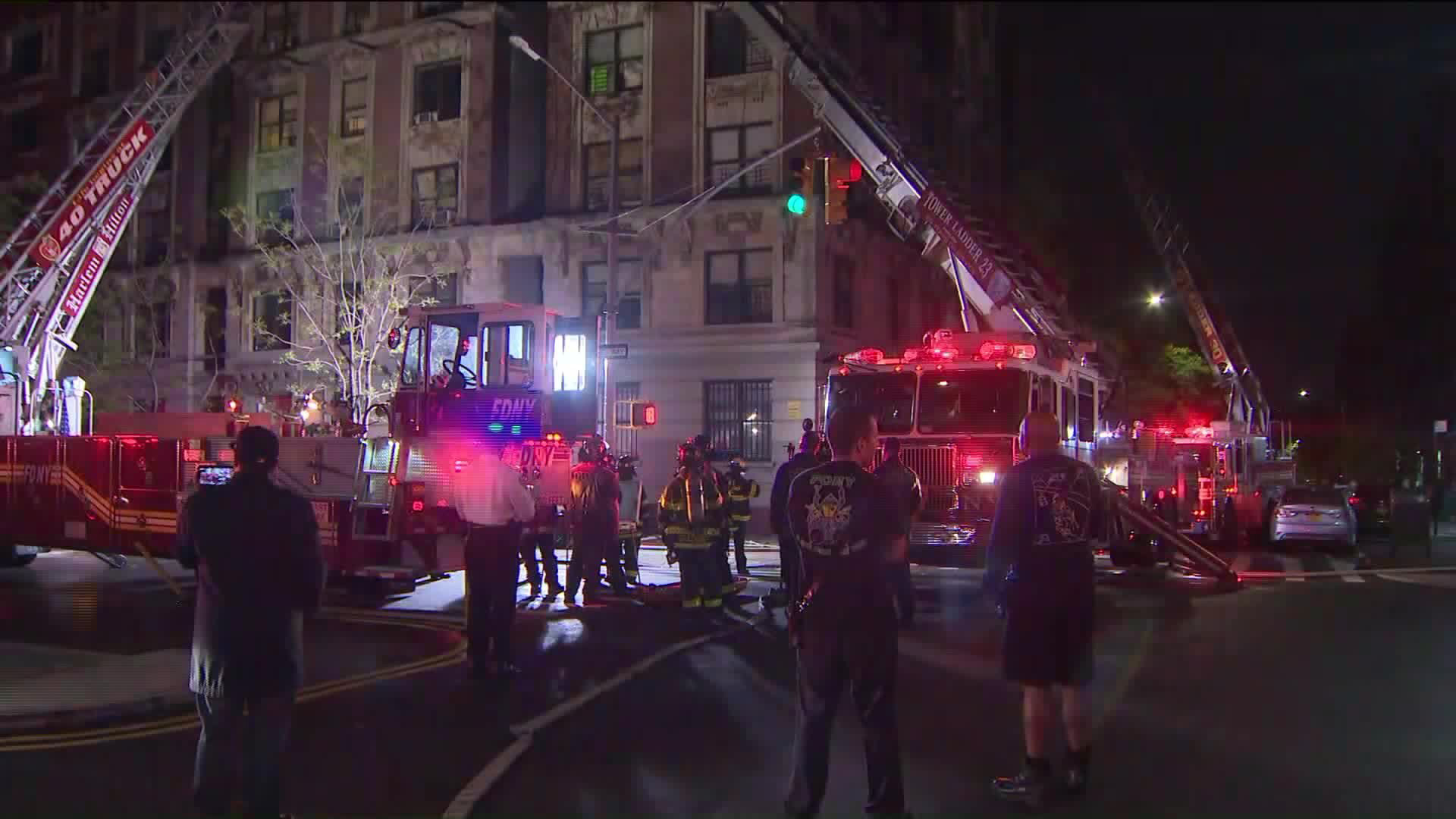 Two adults and four children were killed in a Harlem apartment fire, police said. (Credit: WPIX)
