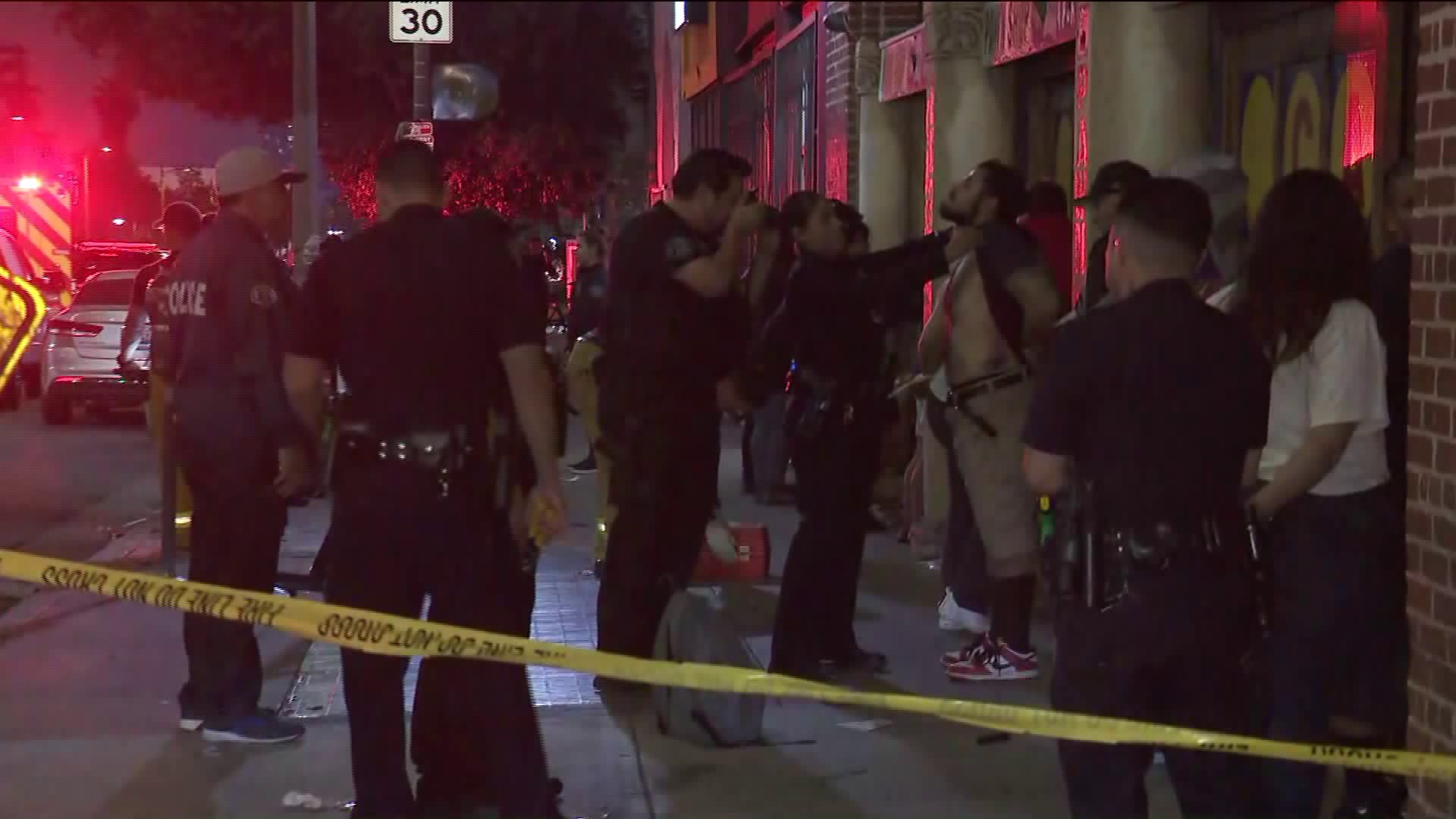 Los Angeles police raided an alleged gambling and drug operation in Koreatown on May 31, 2019. (Credit: KTLA)