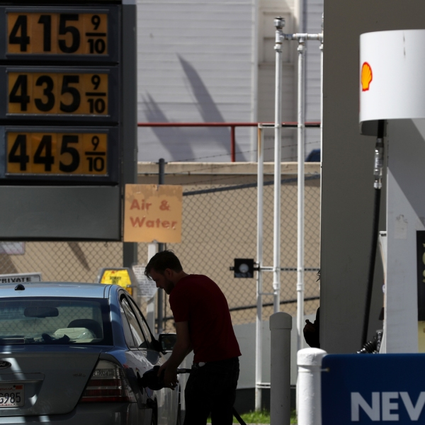 Gas prices over $4.00 a gallon are displayed at a gas station on April 09, 2019 in San Francisco. (Credit: Justin Sullivan / Getty Images)