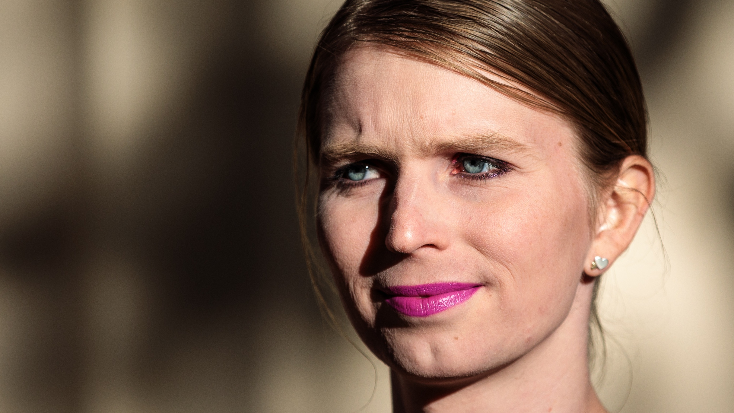 Former American soldier and whistleblower Chelsea Manning appears outside the Institute Of Contemporary Arts ahead of a Q&A event on Oct. 1, 2018 in London, England. (Credit: Jack Taylor/Getty Images)