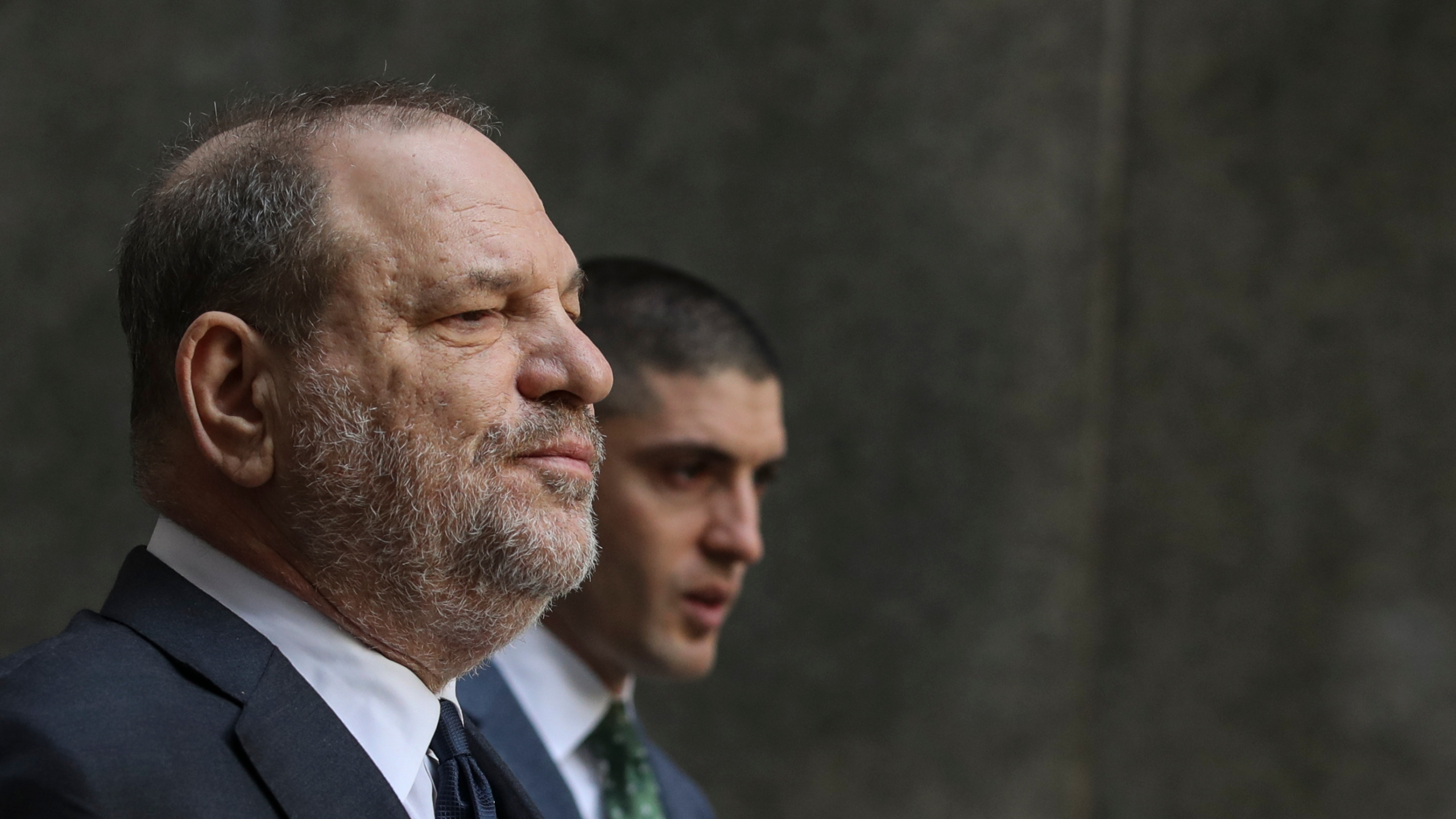 Harvey Weinstein exits a court hearing at New York Criminal Court on Dec. 20, 2018 in New York City. (Credit: Drew Angerer/Getty Images)