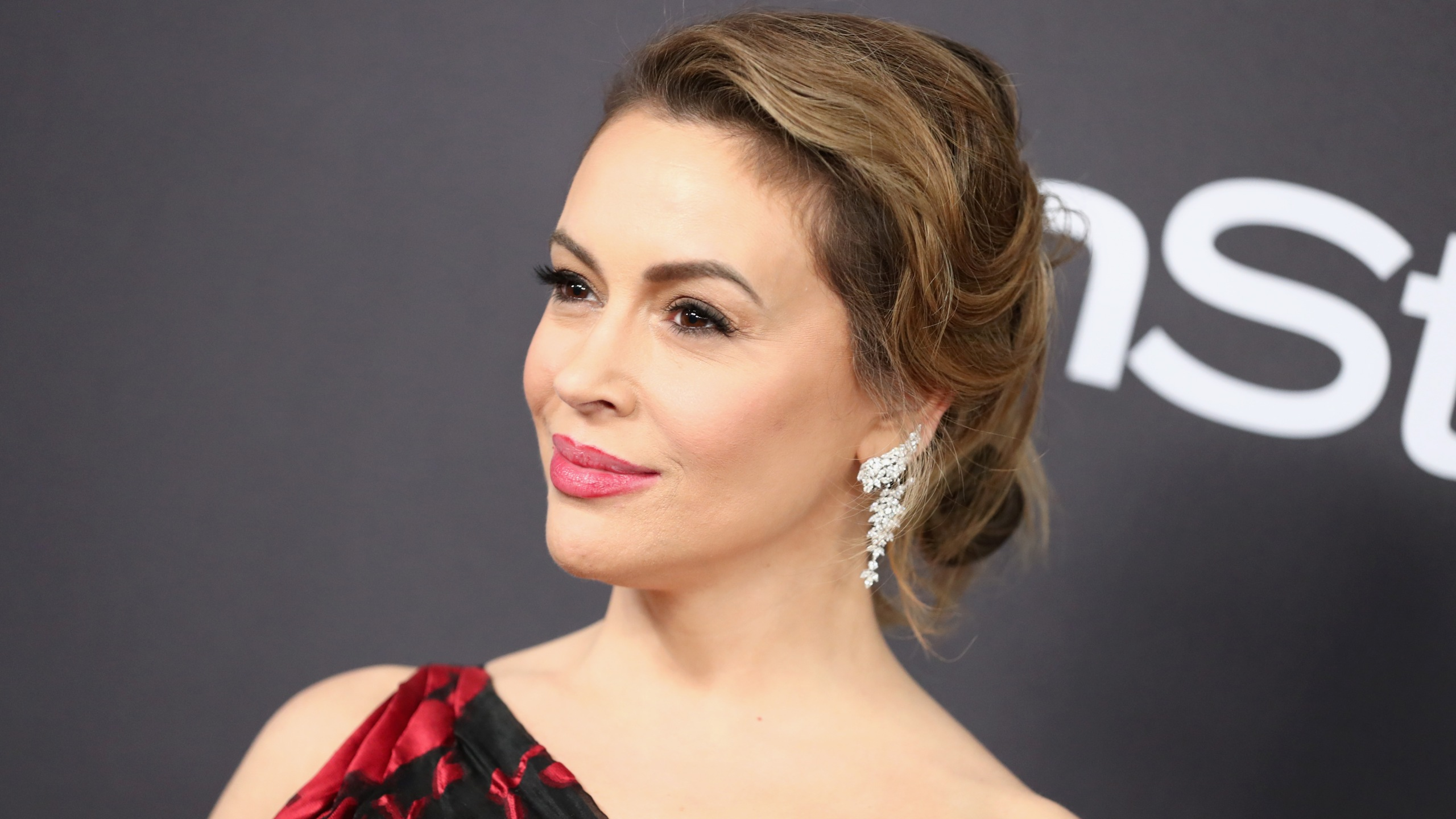 Alyssa Milano attends the InStyle And Warner Bros. Golden Globes after party at the Beverly Hilton Hotel on Jan. 6, 2019, in Beverly Hills. (Credit: Rich Fury/Getty Images)