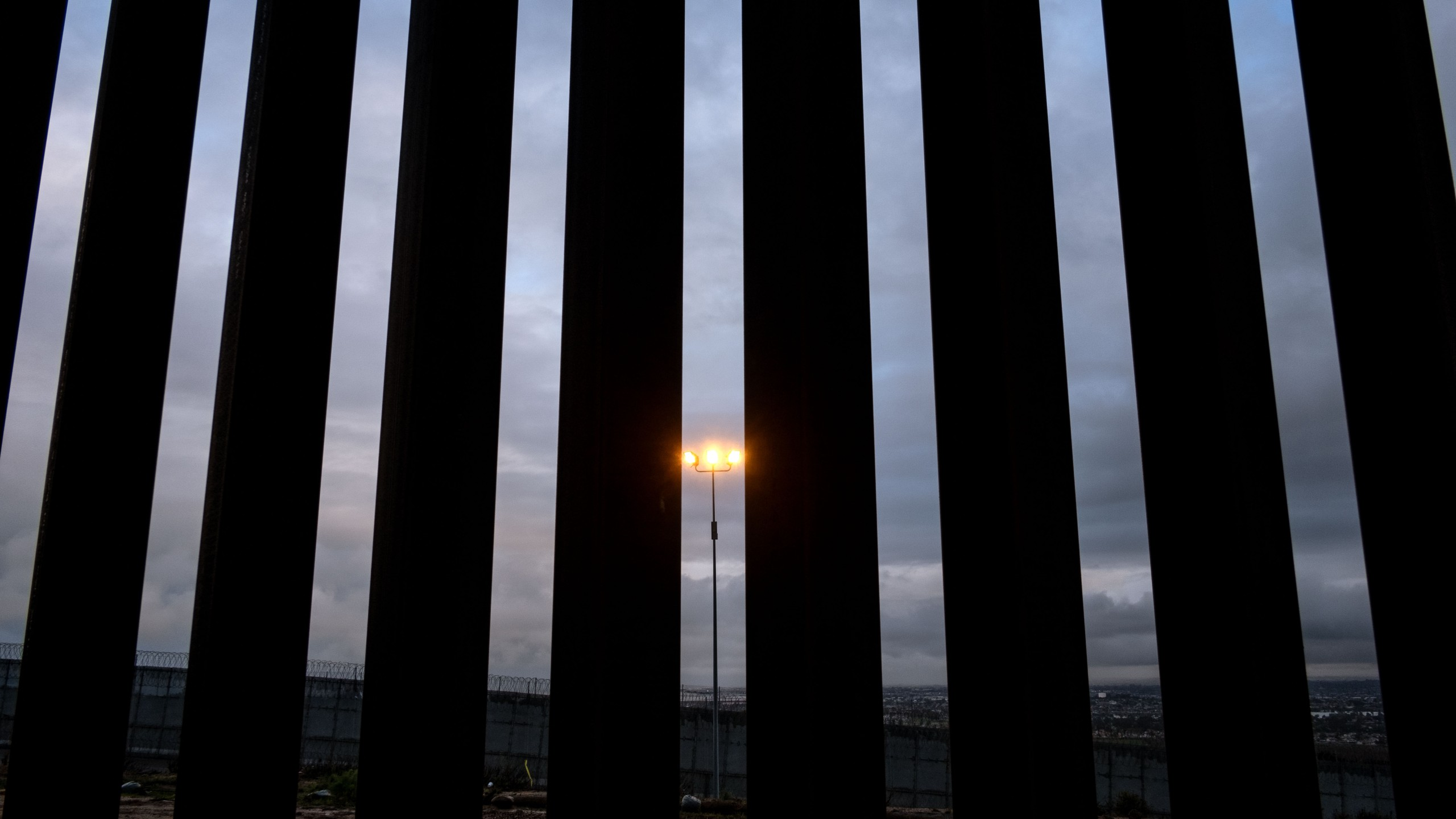 Picture of a section of the US-Mexico border fence seen from Tijuana, Baja California State, Mexico, on February 5, 2019. (Credit: GUILLERMO ARIAS/AFP/Getty Images)
