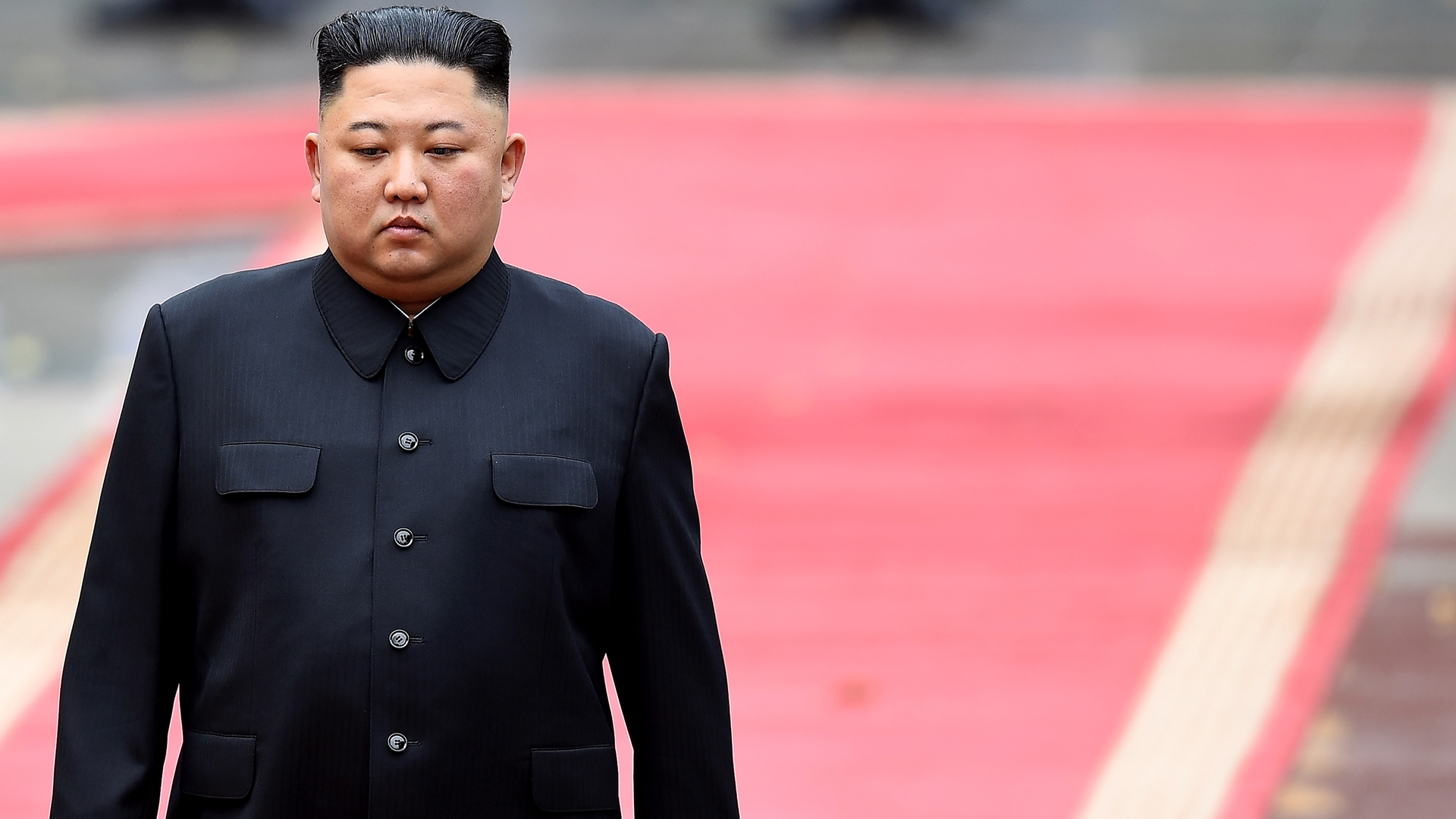 North Korea's leader Kim Jong Un attends a welcoming ceremony at the Presidential Palace in Hanoi on March 1, 2019. (Credit: MANAN VATSYAYANA/AFP/Getty ImagesNorth Korea's leader Kim Jong Un attends a welcoming ceremony at the Presidential Palace in Hanoi on March 1, 2019. (Credit: MANAN VATSYAYANA/AFP/Getty Images)