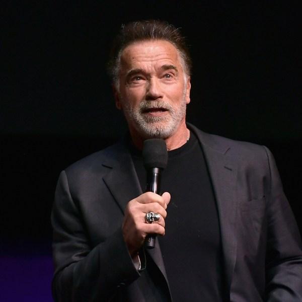 Arnold Schwarzenegger speaks onstage during CinemaCon 2019 on April 4, 2019, in Las Vegas, Nevada. (Credit: Matt Winkelmeyer/Getty Images for CinemaCon)