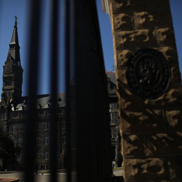 The campus of Georgetown University in Washington, D.C., is shown on March 12, 2019. (Credit: Win McNamee / Getty Images)