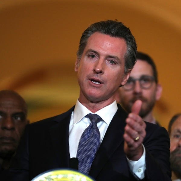 Gov. Gavin Newsom speaks during a news conference at the California State Capitol in Sacramento on March 13, 2019. (Credit: Justin Sullivan / Getty Images)