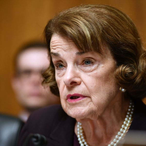 Sen. Dianne Feinstein speaks as Attorney General William Barr prepares to testify before the Senate Judiciary Committee on the Mueller report on May 1, 2019. (Credit: Mandel Ngan / AFP / Getty Images)