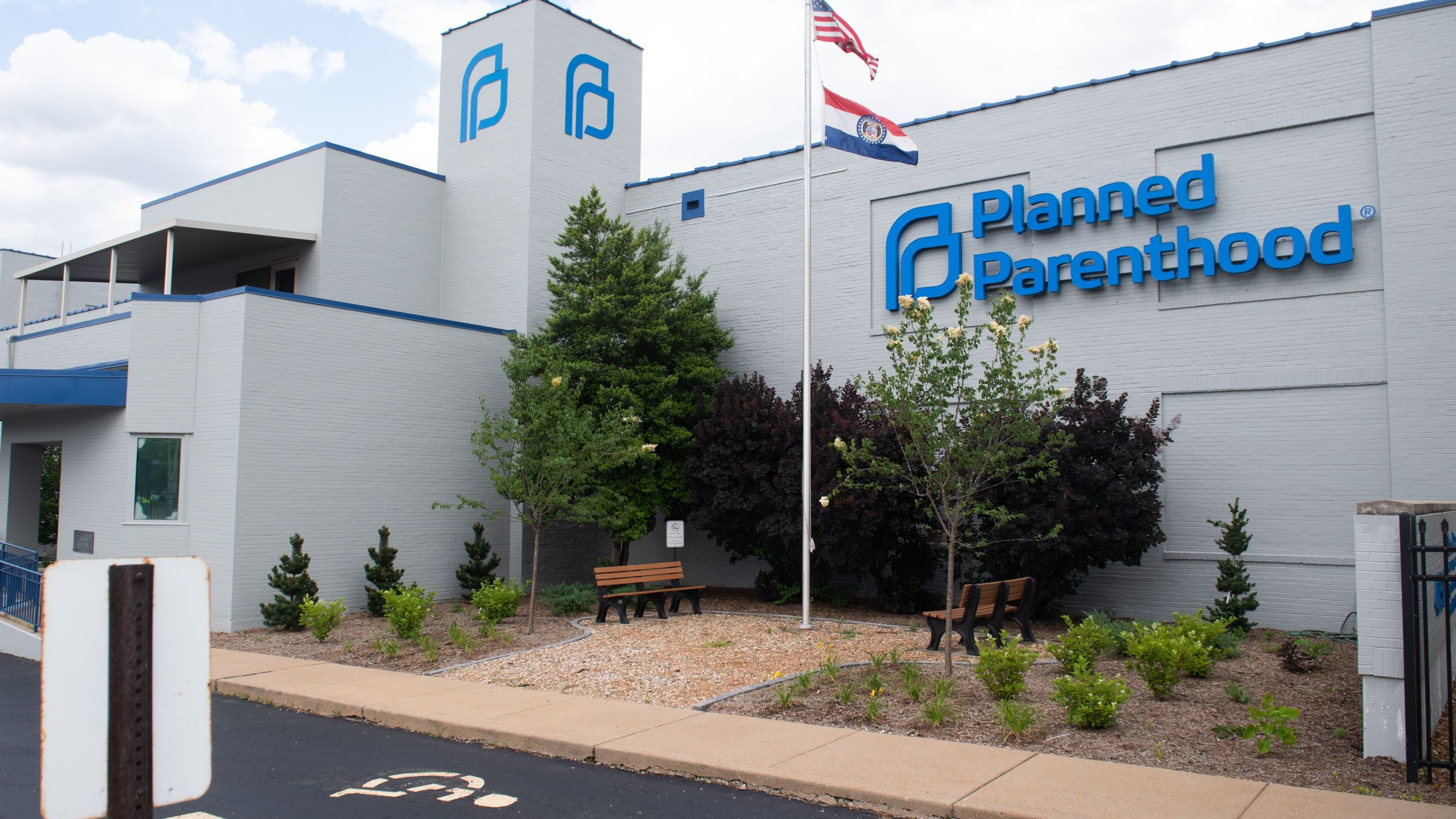 The outside of the Planned Parenthood Reproductive Health Services Center is seen in St. Louis, Missouri, May 30, 2019, the last location in the state performing abortions. (Credit:SAUL LOEB/AFP/Getty Images)