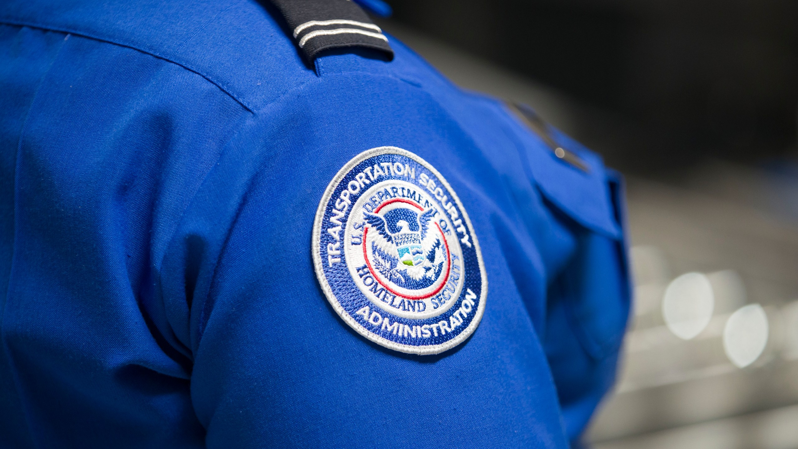 A Transportation Security Administration agent's patch is seen in a file photo. (Credit: Joe Raedle/Getty Images)