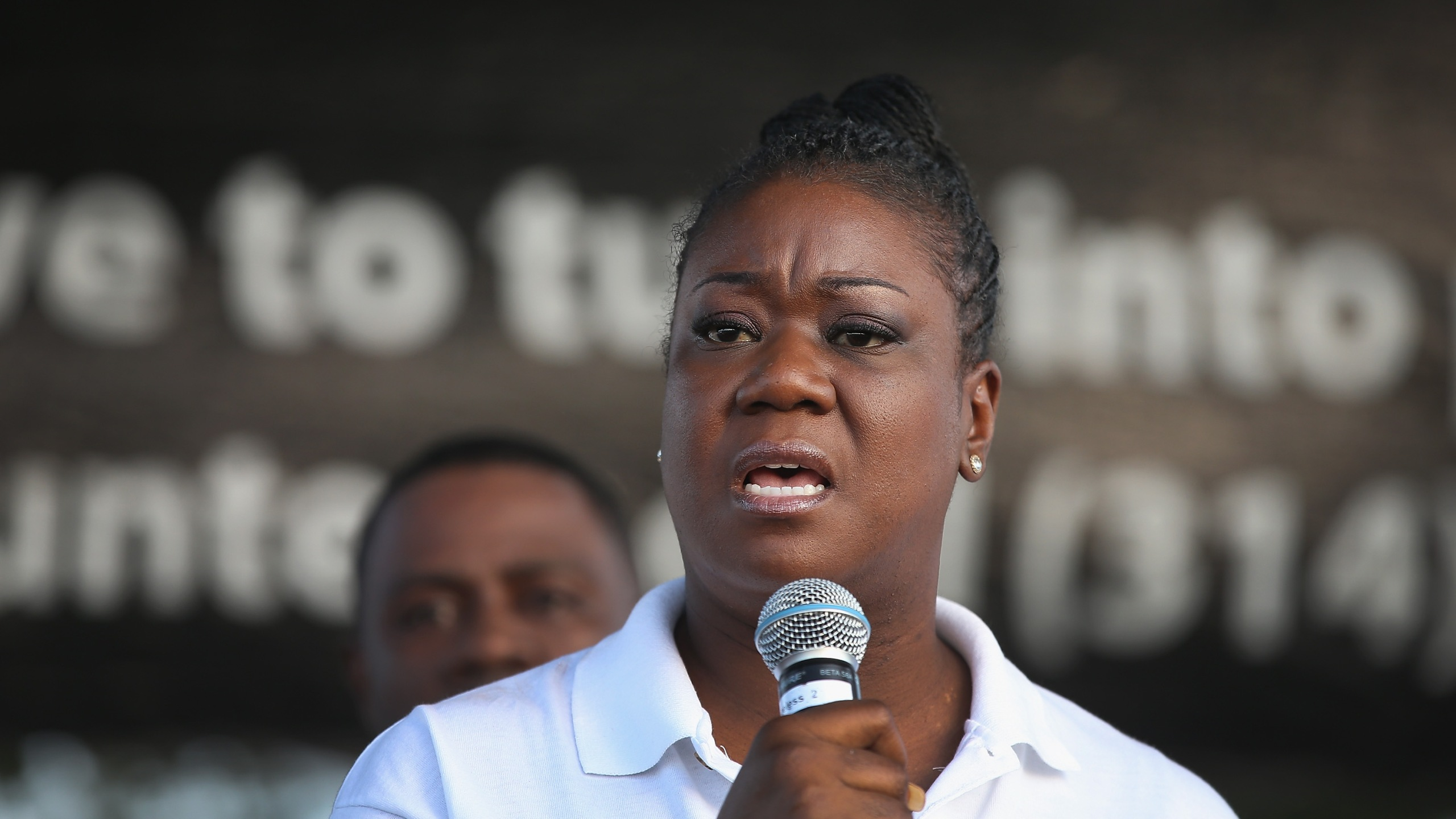 Sybrina Fulton, the mother of Trayvon Martin, speaks at Peace Fest in Forest Park on August 24, 2014 in St. Louis, Missouri. (Credit: Scott Olson/Getty Images)