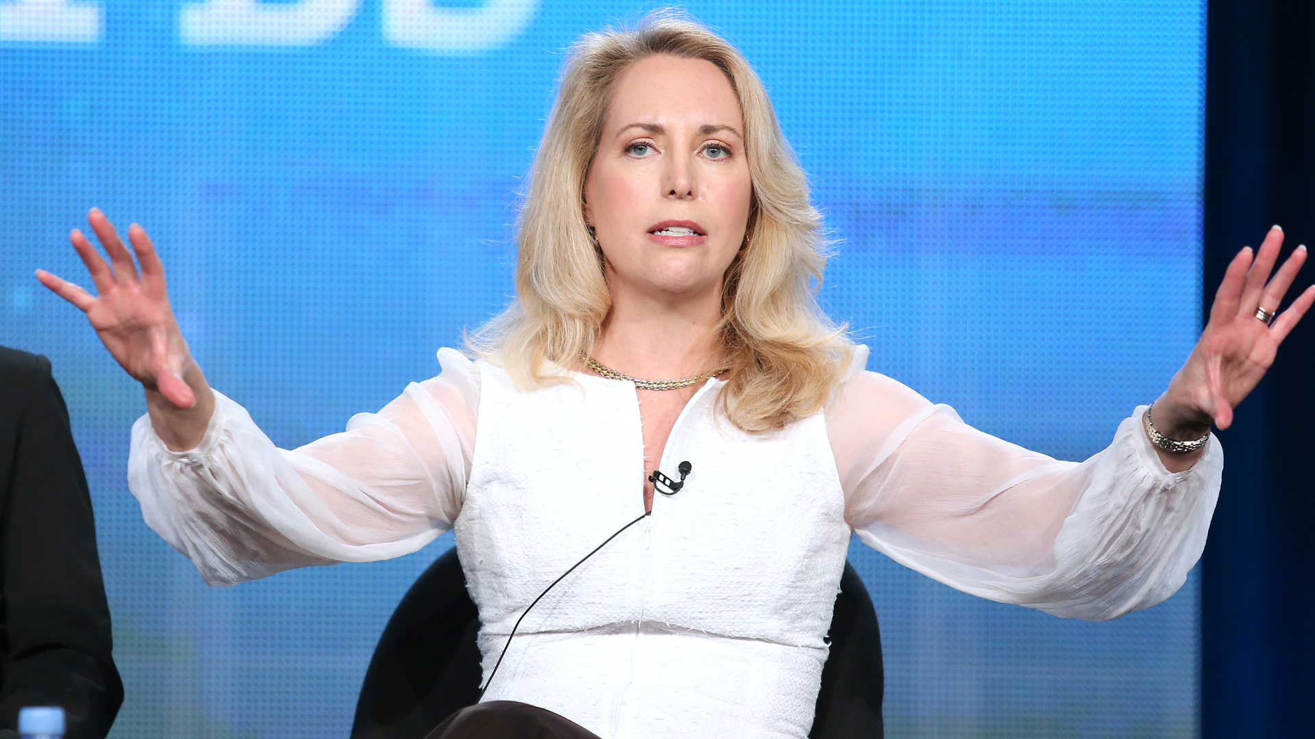 Valerie Plame, author and former CIA operations officer, speaks onstage during an event at the Langham Hotel on January at Langham Hotel in Pasadena on Jan. 22, 2014. (Credit: Frederick M. Brown/Getty Images)