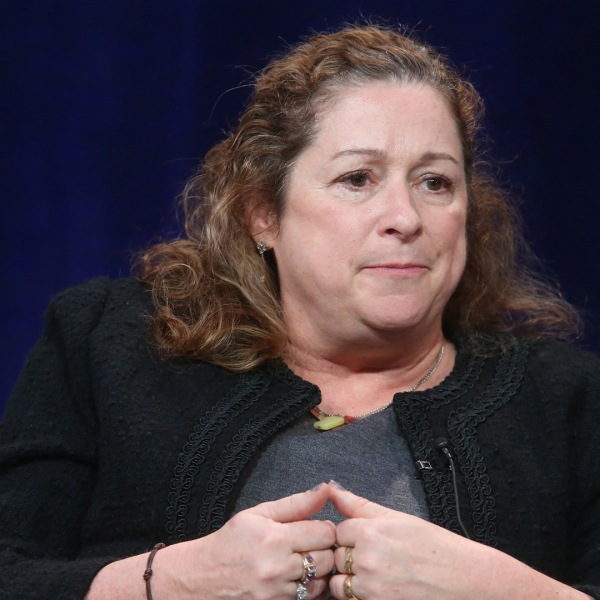 Director Abigail Disney speaks onstage during INDEPENDENT LENS' 'The Armor of Light' panel as part of the PBS portion of the 2016 Television Critics Association Winter Press Tour at Langham Hotel on January 18, 2016 in Pasadena, California. (Credit: Frederick M. Brown/Getty Images)