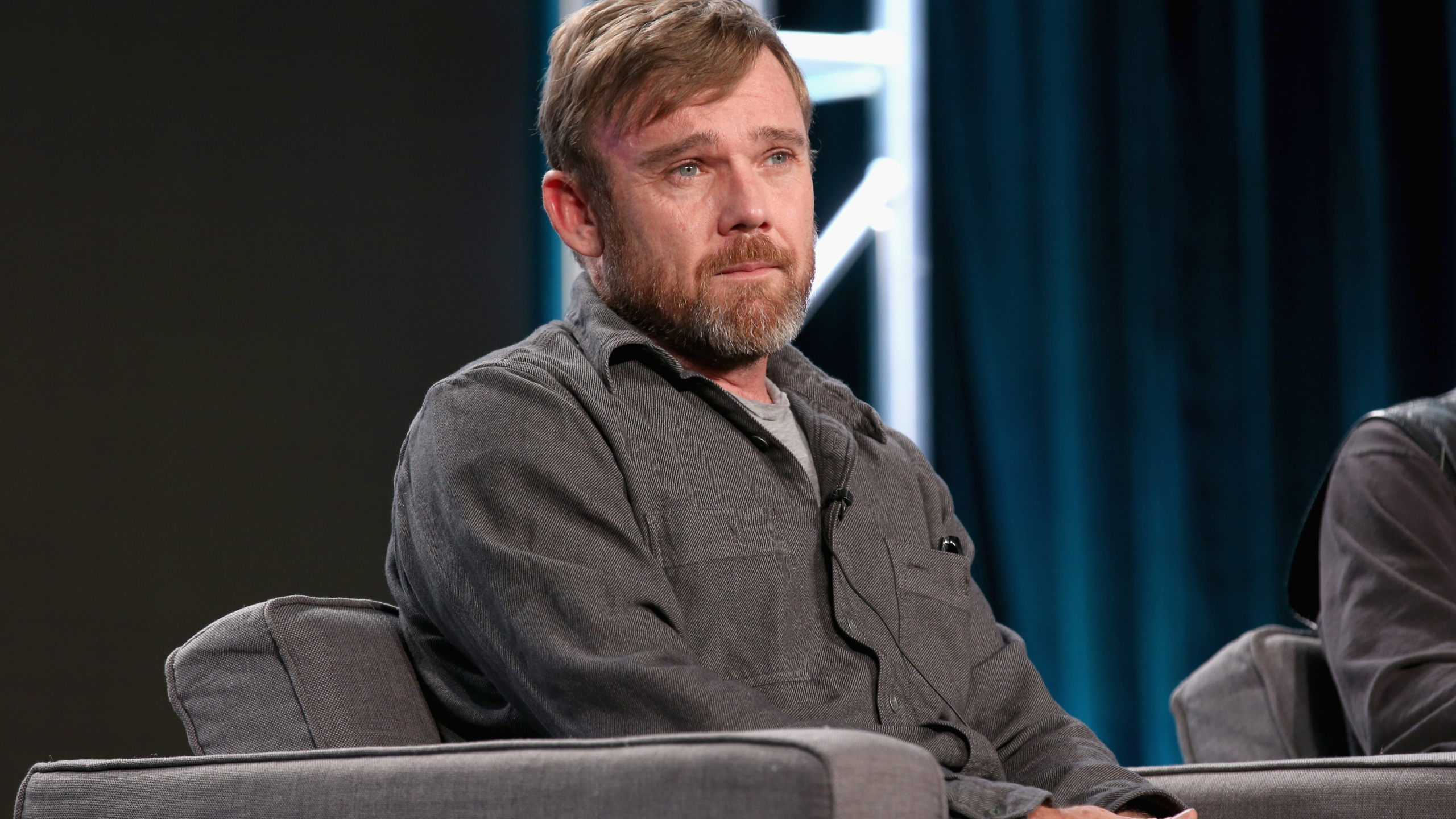 Executive producer Ricky Schroder of 'AUDIENCE Documentaries' speaks onstage during AT&T AUDIENCE Network Presents at 2017 Winter TCA at Langham Hotel on Jan. 5, 2017, in Pasadena. (Credit: Phillip Faraone/Getty Images for DIRECTV)
