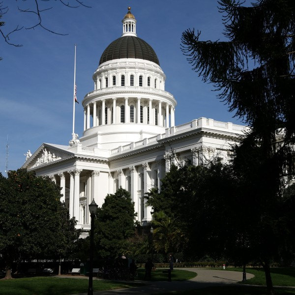 A view of the California State Capitol on Feb. 19, 2009, in Sacramento. (Justin Sullivan/Getty Images)
