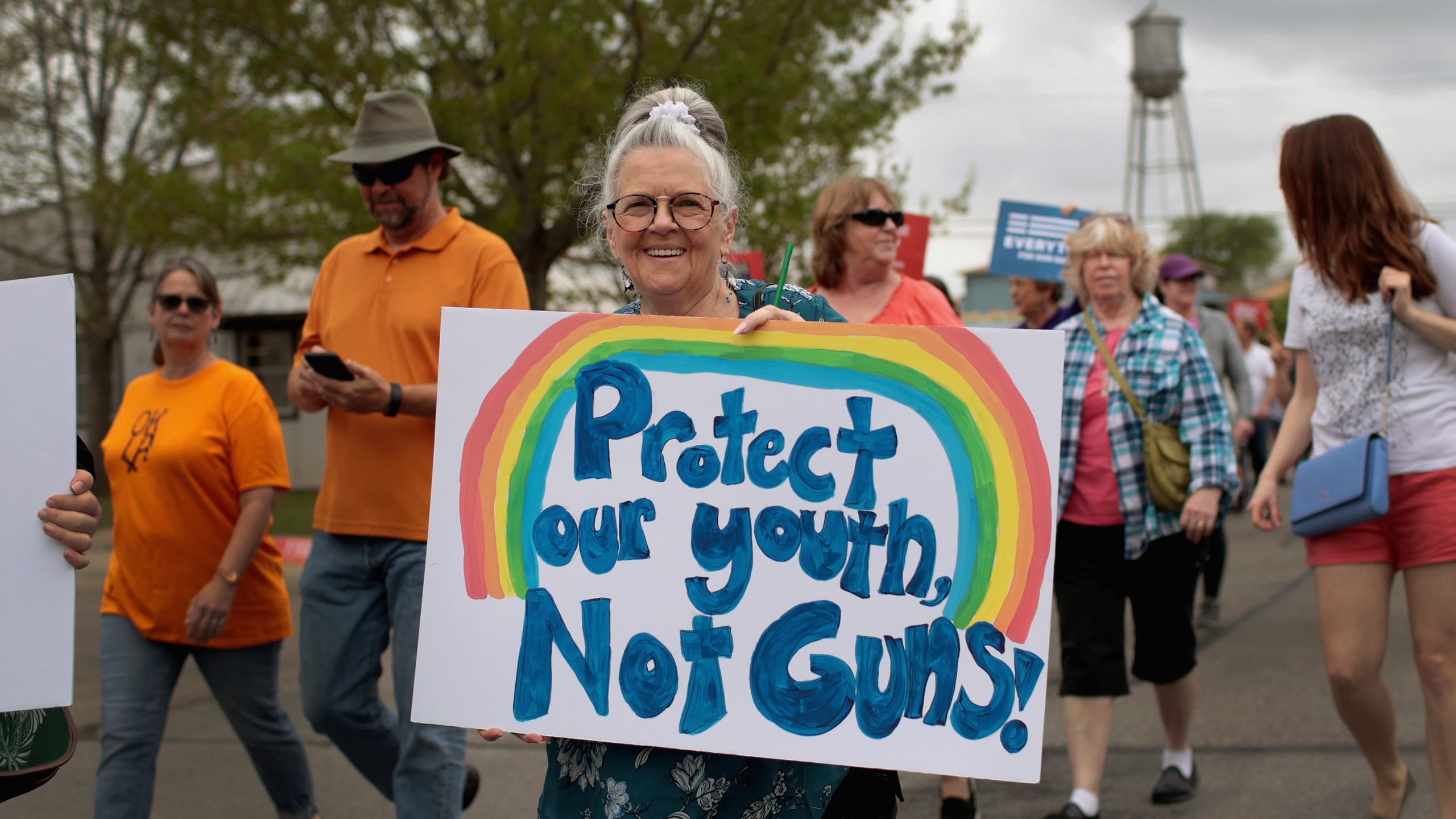 Demonstrators participate in a rally on March 24, 2018 in Round Rock, Texas. (Credit: Scott Olson/Getty Images)