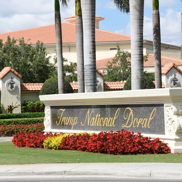 The view leading into Trump National Doral in Miami on April 3, 2018. (Credit: MICHELE EVE SANDBERG/AFP/Getty Images)