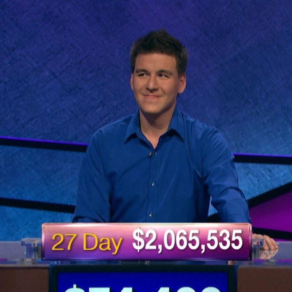 James Holzhauer appears in a Jeopardy! episode that aired on May 24, 2019. (Credit: Jeopardy Productions/Sony Pictures Television)