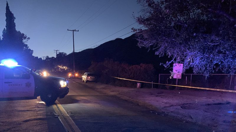 The area of Altadena Drive and Midwick Avenue in Altadena is seen in a photo provided by the Los Angeles County Sheriff's Department on May 29, 2019.