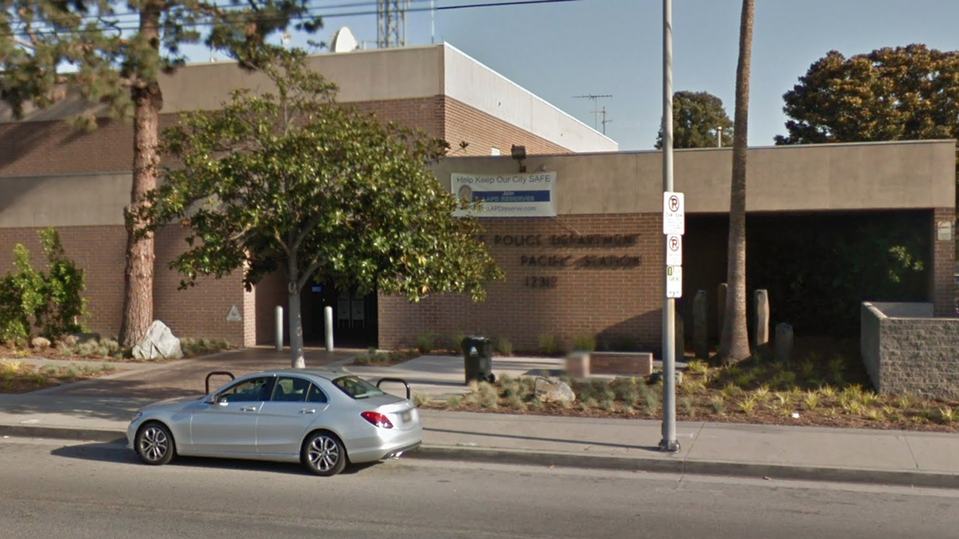 The LAPD's Pacific Station is seen in a Google Map image.