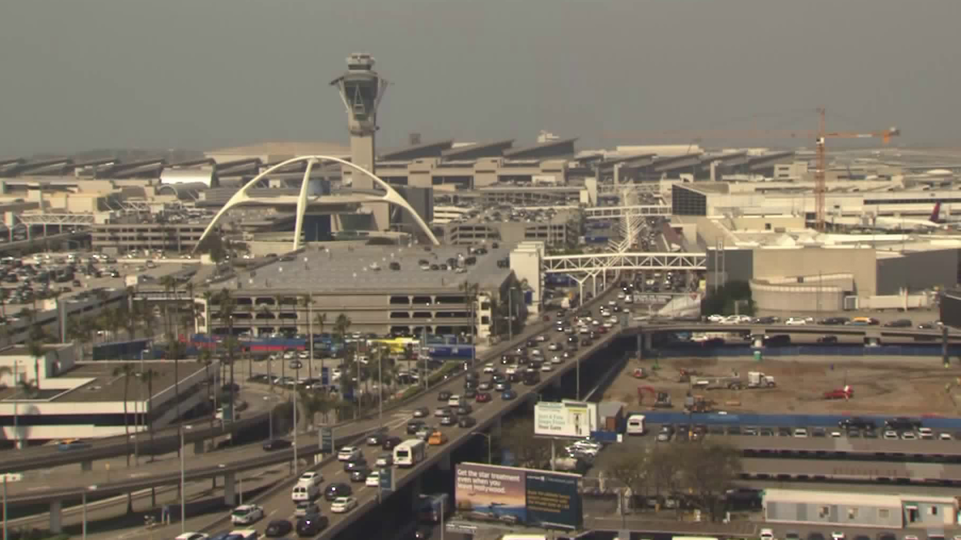 A view from an LAX camera is seen on May 3, 2019.