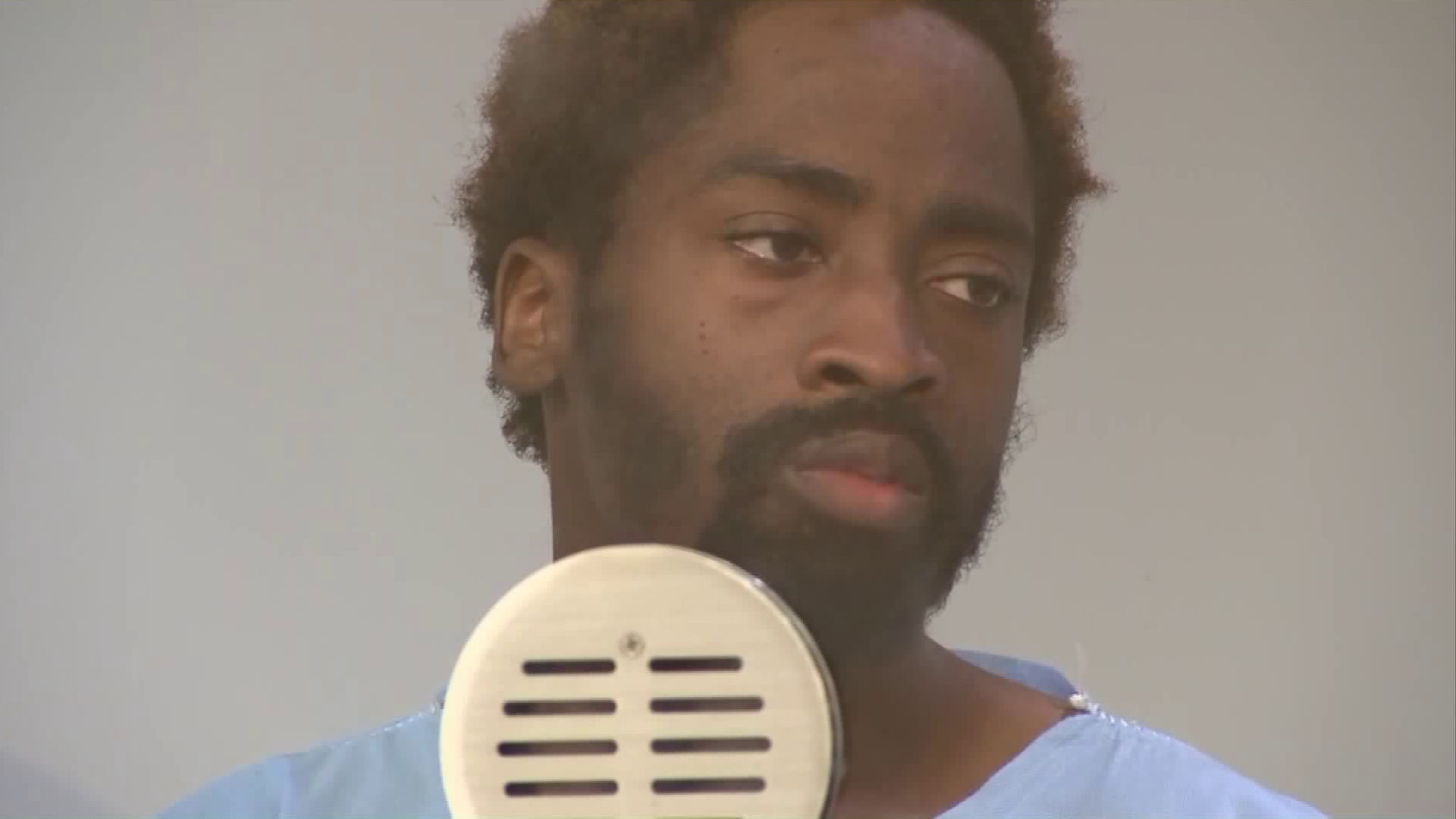 Amad Rashad Redding appears in court in Long Beach on May 15, 2019. (Credit: KTLA)